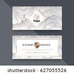 gift voucher template with... | Shutterstock .eps vector #627055526