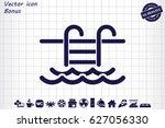 vector illustration of swimming ... | Shutterstock .eps vector #627056330