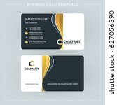double sided business card... | Shutterstock .eps vector #627056390