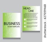 vector brochure flyer design... | Shutterstock .eps vector #627059468