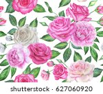 seamless floral pattern with... | Shutterstock . vector #627060920