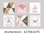 set of happy mothers day... | Shutterstock .eps vector #627061670