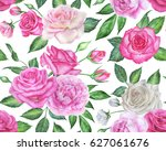 seamless floral pattern with... | Shutterstock . vector #627061676