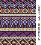 knitted pattern | Shutterstock .eps vector #627063584