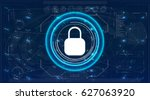 safety screen.futuristic user... | Shutterstock .eps vector #627063920