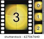old film movie countdown frame. ... | Shutterstock .eps vector #627067640