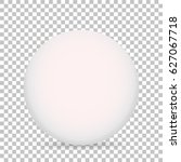 3d ball with shadow on white... | Shutterstock .eps vector #627067718