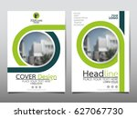 green flyer cover business... | Shutterstock .eps vector #627067730