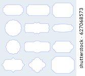 silhouette framework   frame set | Shutterstock .eps vector #627068573