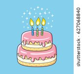 Birthday Cake With Three...