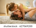 mother with her daughter... | Shutterstock . vector #627069200