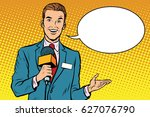 broadcaster news is reporting... | Shutterstock .eps vector #627076790
