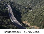Aerial View Of A Road Between...