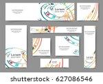 set of web banner templates for ... | Shutterstock .eps vector #627086546