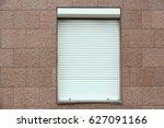 plastic window with roller... | Shutterstock . vector #627091166