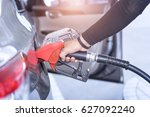 car fuels concept  oil station... | Shutterstock . vector #627092240