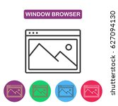 picture icon. browser window...