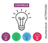 lightbulb. isolated  line icon... | Shutterstock . vector #627094184