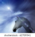 White Horse  Abstract Background