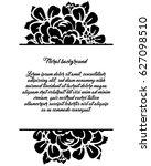 vintage delicate invitation...   Shutterstock .eps vector #627098510