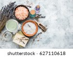 natural soap  lavender  candle  ...   Shutterstock . vector #627110618