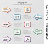 info graphic background with... | Shutterstock .eps vector #627113798