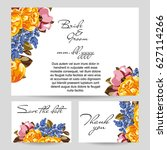 romantic invitation. wedding ... | Shutterstock .eps vector #627114266