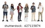 various of diversity people... | Shutterstock . vector #627115874
