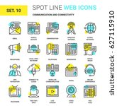 vector set of communication and ... | Shutterstock .eps vector #627115910