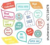modern flat design sale...   Shutterstock . vector #627118478