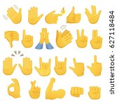 set of hands icons and symbols. ... | Shutterstock . vector #627118484