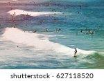 surfers in the ocean at bondi... | Shutterstock . vector #627118520