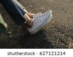 Leg Woman Sneaker Jeans With...