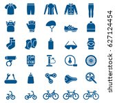 set of bicycle icons. vector... | Shutterstock .eps vector #627124454