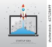 start up business strategy... | Shutterstock .eps vector #627128699