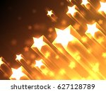 shiny bright stars flying on... | Shutterstock . vector #627128789