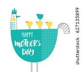 cute creative card template ... | Shutterstock .eps vector #627135899
