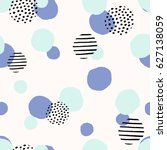 seamless repeat pattern with... | Shutterstock .eps vector #627138059