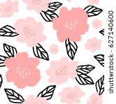seamless repeat pattern with... | Shutterstock .eps vector #627140600