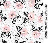 seamless repeat pattern with... | Shutterstock .eps vector #627140630