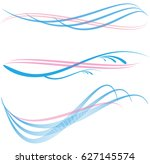 lines waves in colors.abstract...   Shutterstock .eps vector #627145574