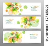 set of three nature vector... | Shutterstock .eps vector #627150308