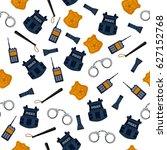police seamless pattern.... | Shutterstock .eps vector #627152768