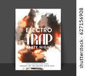 electro trap music party... | Shutterstock .eps vector #627156908