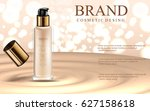 glamorous foundation ads  glass ... | Shutterstock .eps vector #627158618