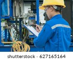 engineer woman in industry... | Shutterstock . vector #627165164