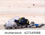 standard construction safety... | Shutterstock . vector #627169088