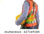 engineer wear fall arrest... | Shutterstock . vector #627169184