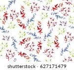 seamless pattern watercolor... | Shutterstock . vector #627171479