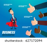 businessman very happy with... | Shutterstock .eps vector #627172094